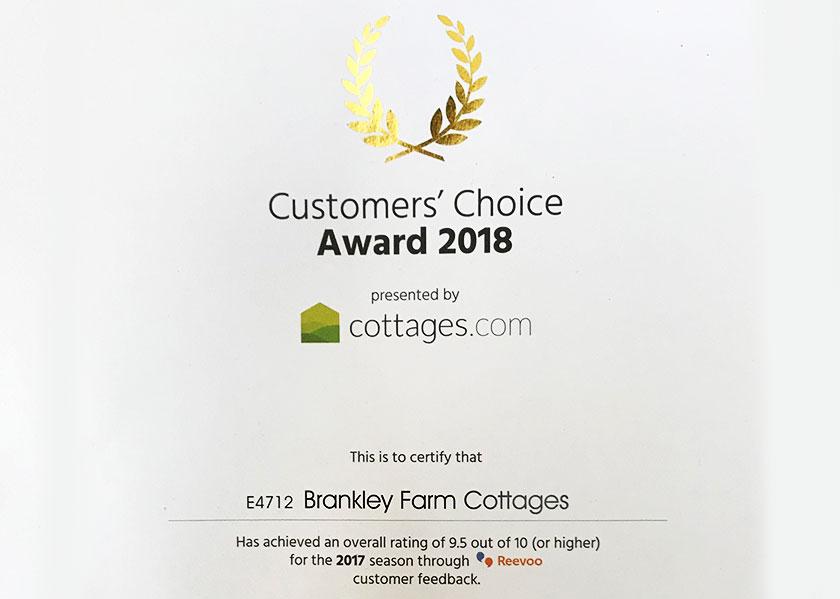 brankley-farm-cottages-customer-choice-award-2018